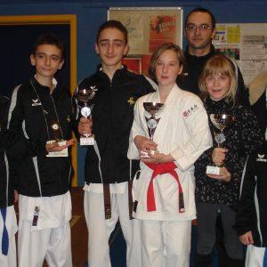 Coupe de Liège: 4 podiums pour le Shitokai Karate Evere