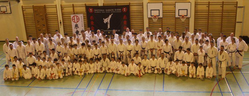 125 karatékas au stage Shitokai Belgium @ Evere