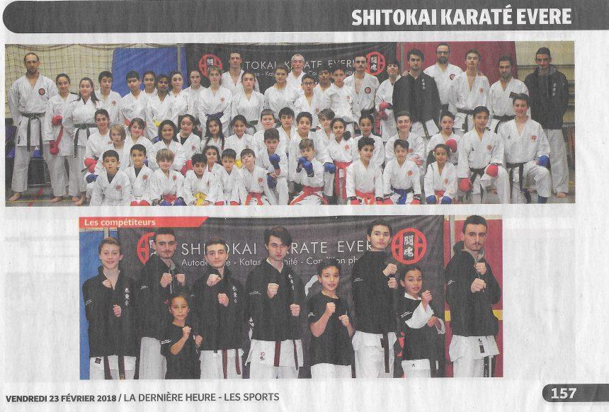 Le SHITOKAI KARATE EVERE dans la Dernière Heure – Les Sports