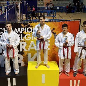3 podiums au Championnat de Belgique